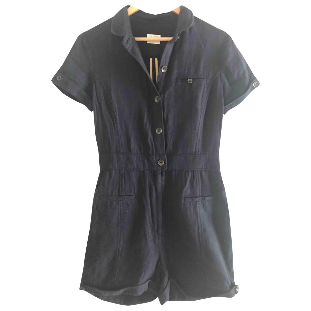Rag & Bone \N Navy Cotton jumpsuit for Women 2 US