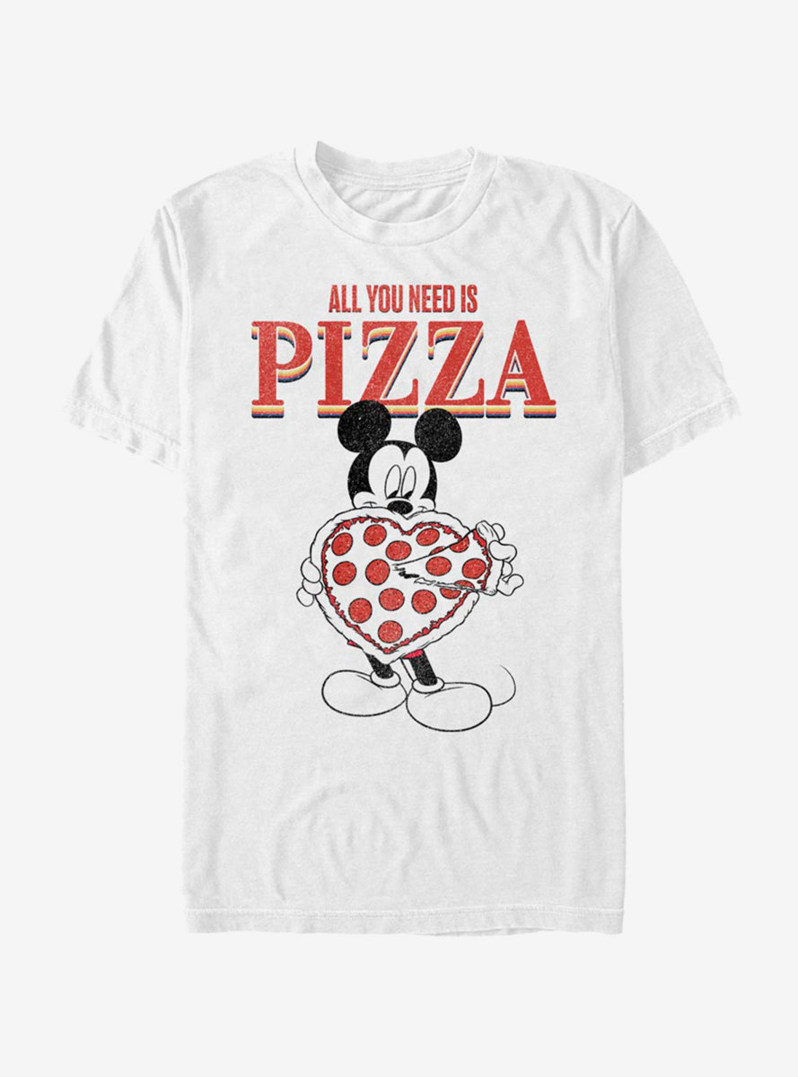 Disney Mickey Mouse All You Need Is Pizza T-Shirt