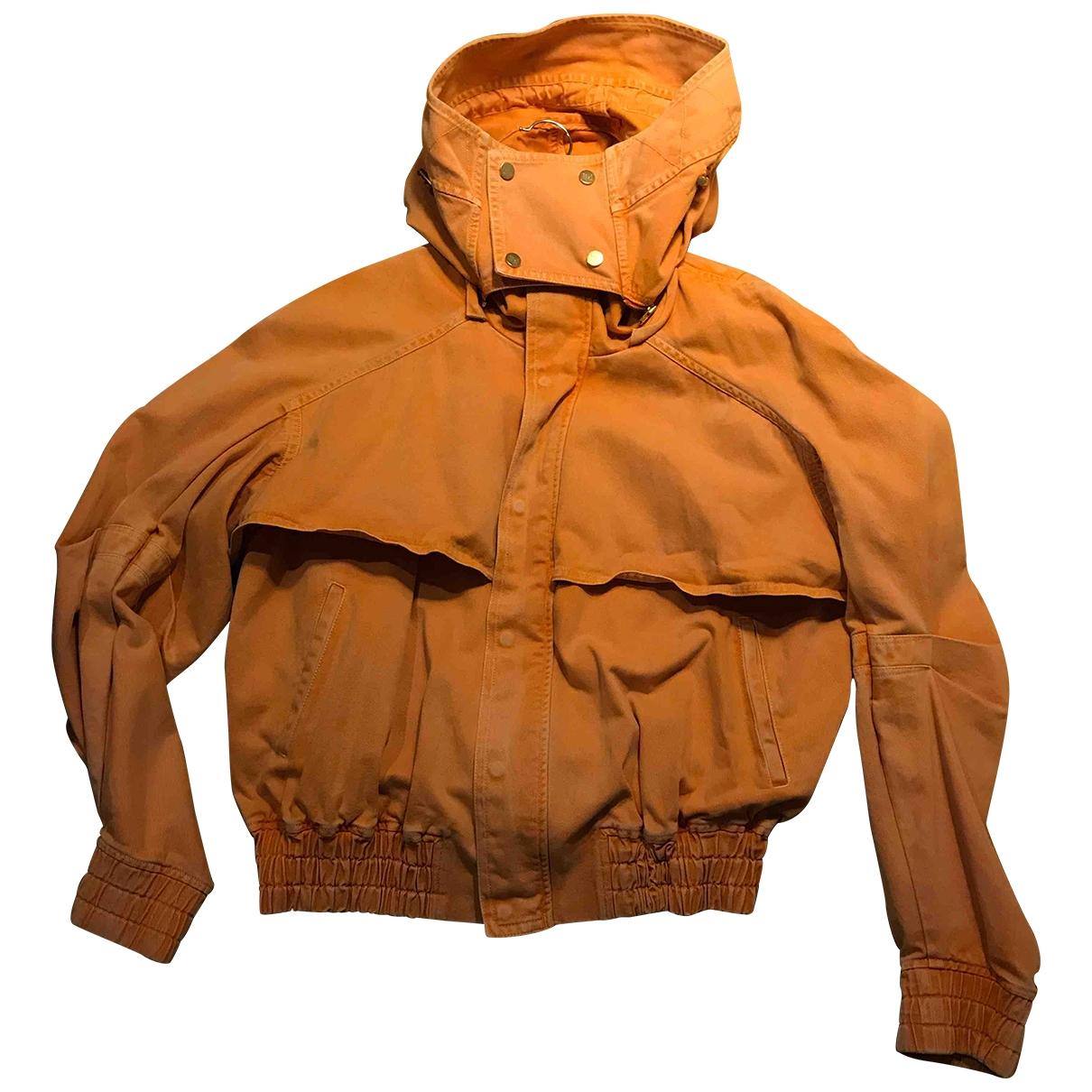 Non Signé / Unsigned \N Orange Denim - Jeans jacket  for Men S International