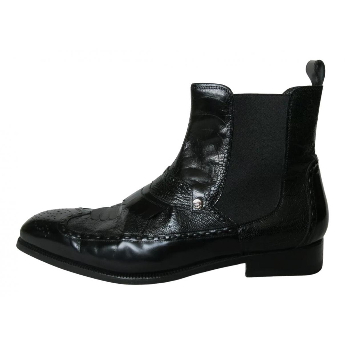 Dolce & Gabbana \N Stiefel in  Schwarz Leder