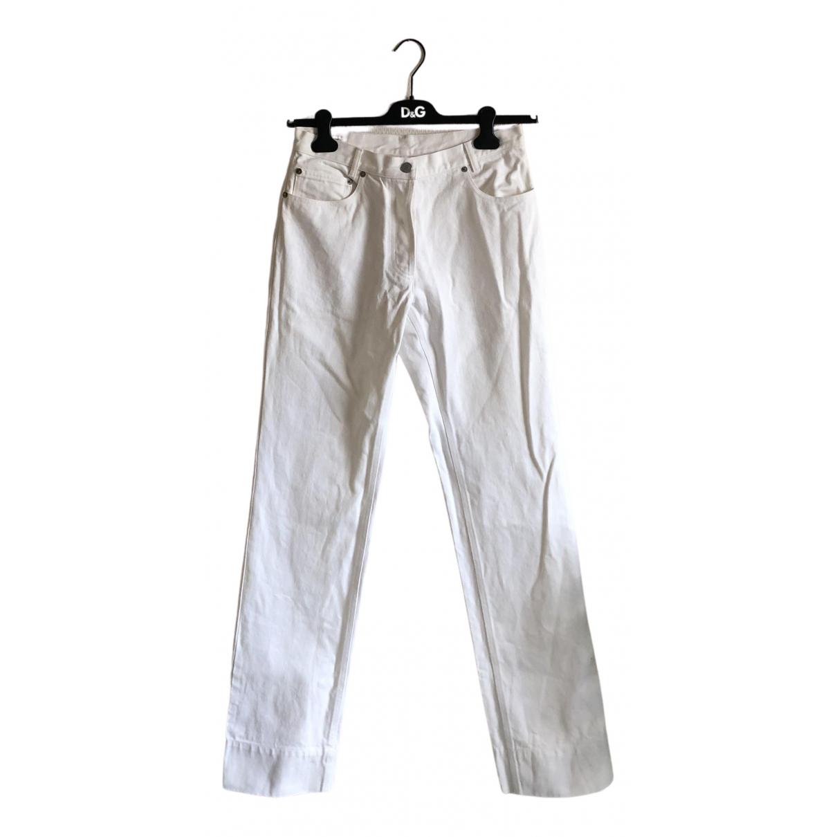 Dries Van Noten N White Cotton Jeans for Women 29 US
