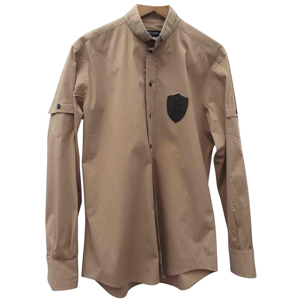 Dolce & Gabbana - Chemises   pour homme en coton - beige