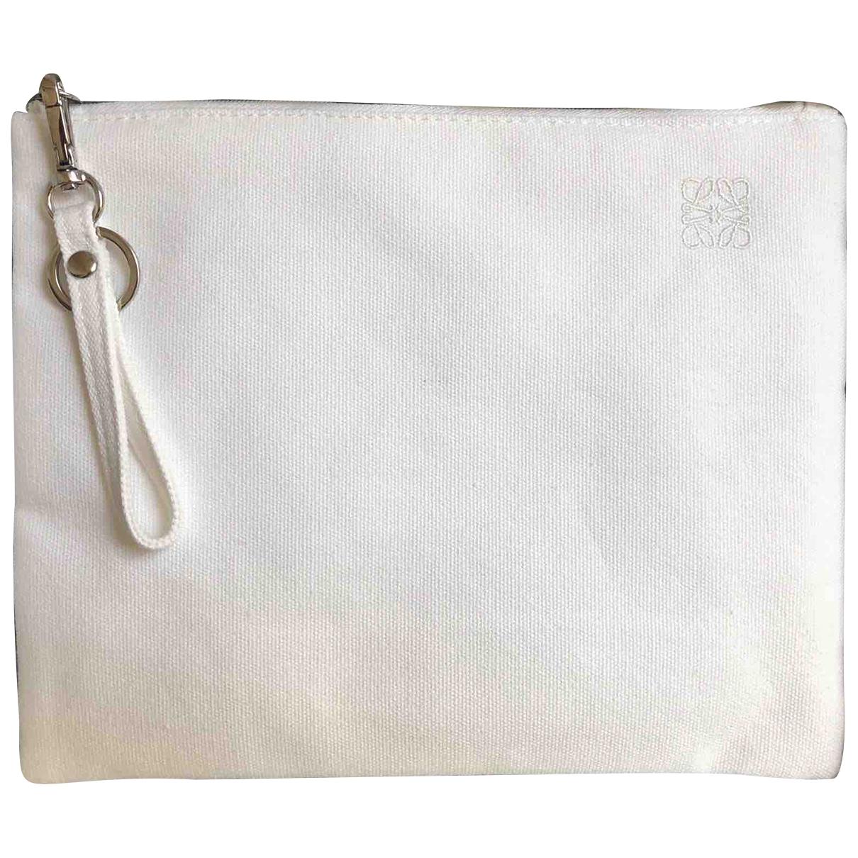 Loewe - Sac de voyage   pour femme en coton - blanc