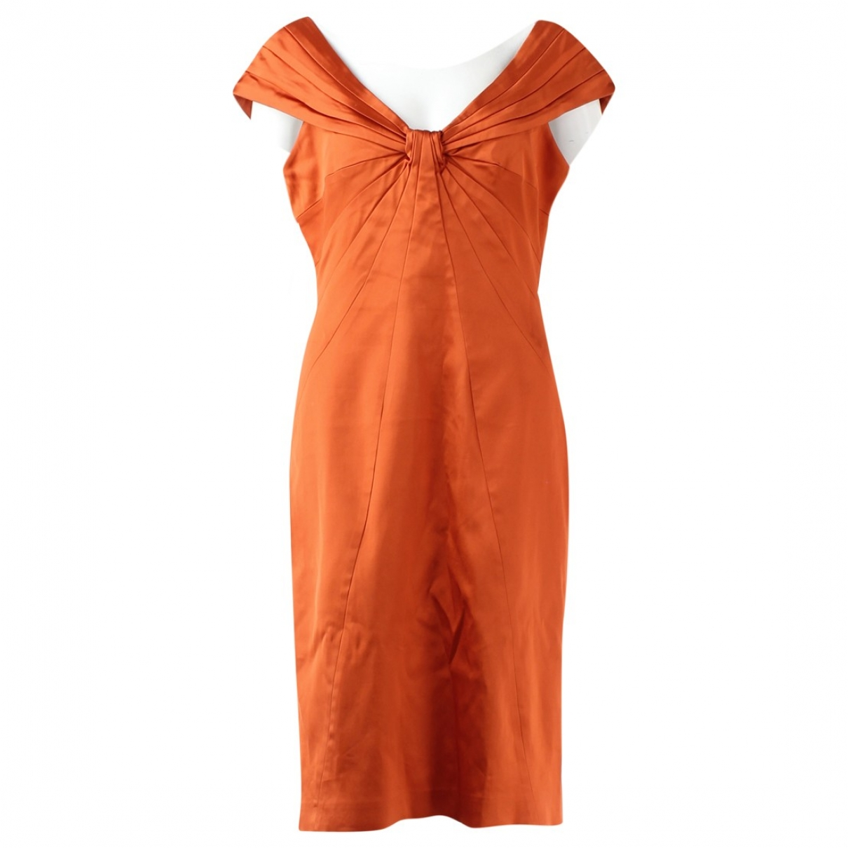 Karen Millen - Robe   pour femme en soie - orange