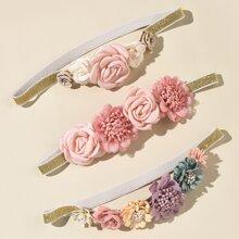 3pcs Baby Flower Decor Headband