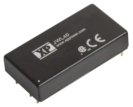 XP Power JWL40 40W Isolated DC-DC Converter Through Hole, Voltage in 9 → 36 V dc, Voltage out 24V dc