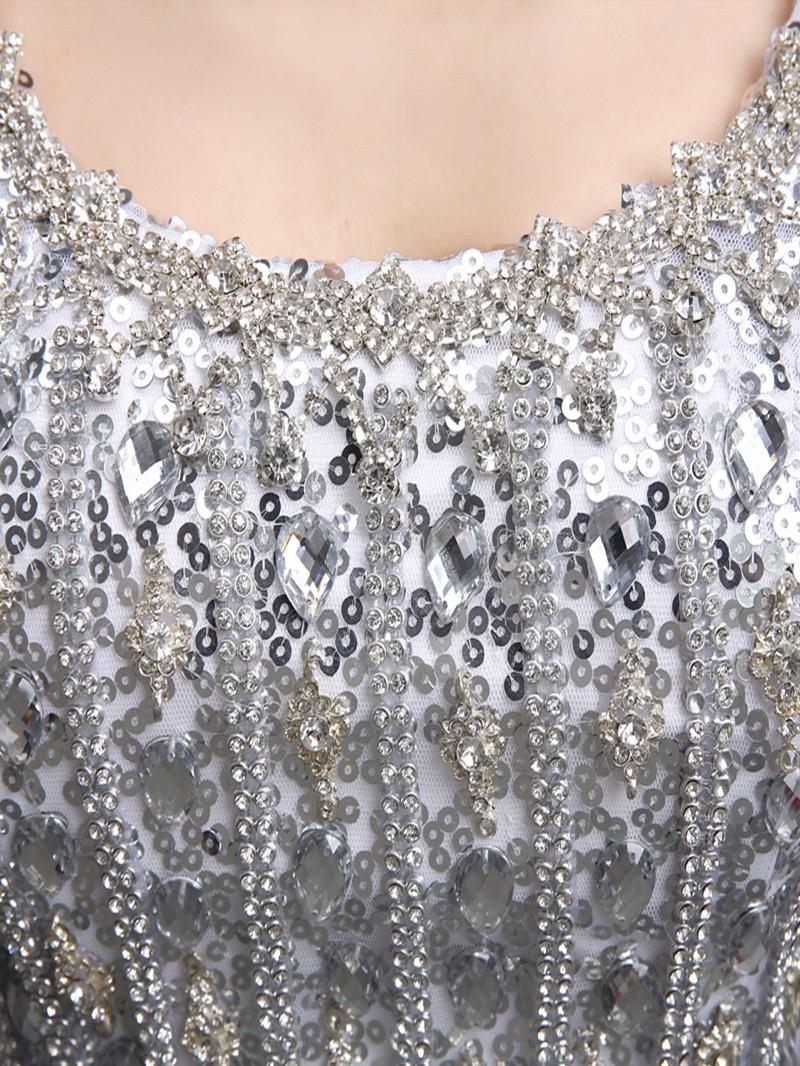 Ericdress Sheath Sequins Mermaid Evening Dress With Beadings