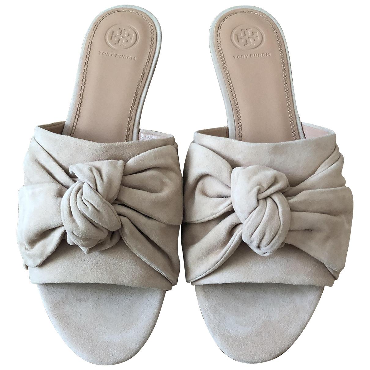 Tory Burch \N Beige Suede Sandals for Women 10 US