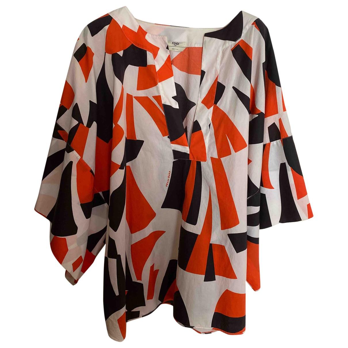Fendi - Top   pour femme en coton - multicolore