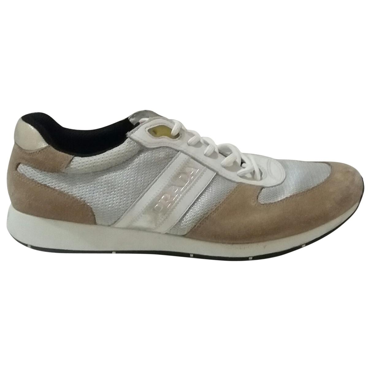 Prada \N Silver Cloth Trainers for Men 9.5 UK