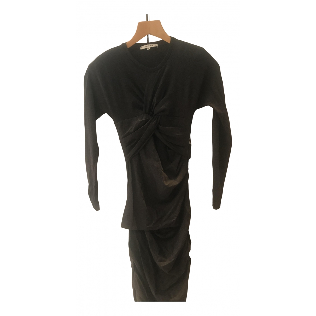 Carven \N Grey Wool dress for Women 38 FR