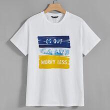 T-Shirt mit Buchstaben Grafik