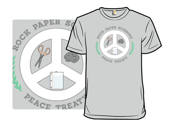 Rock Paper Scissors Truce T Shirt