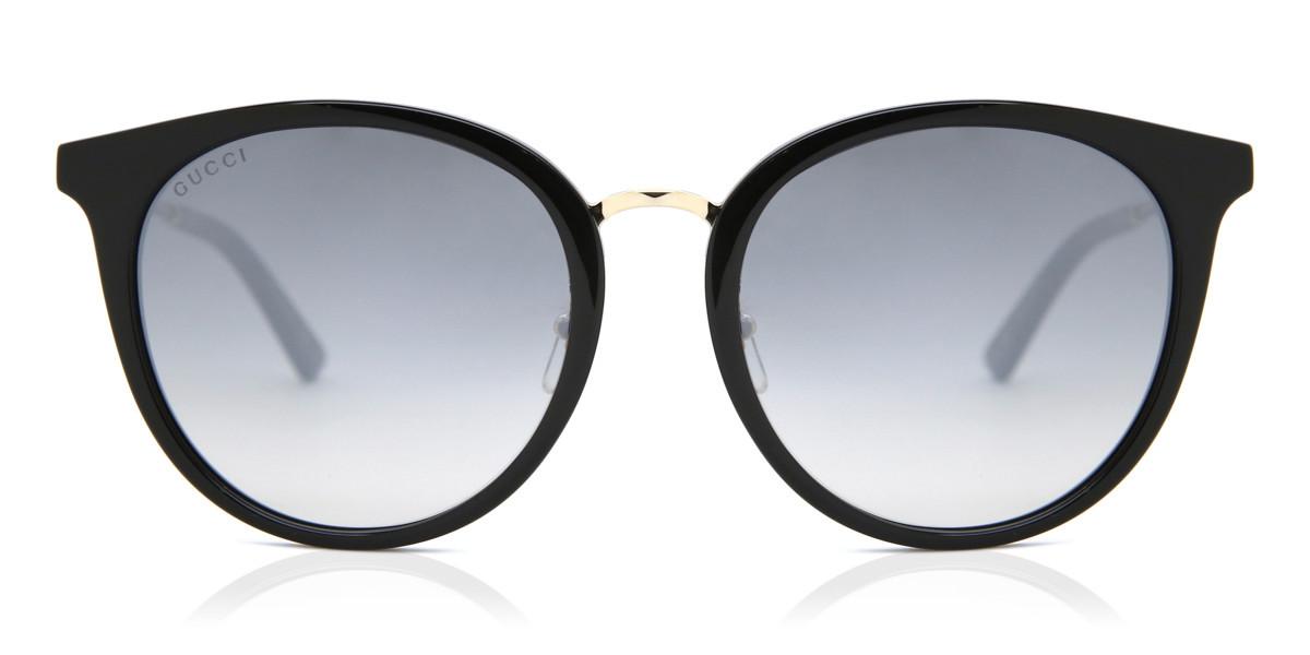 Gucci GG0204SK 007 Women's Sunglasses Black Size 56 - Free RX Lenses