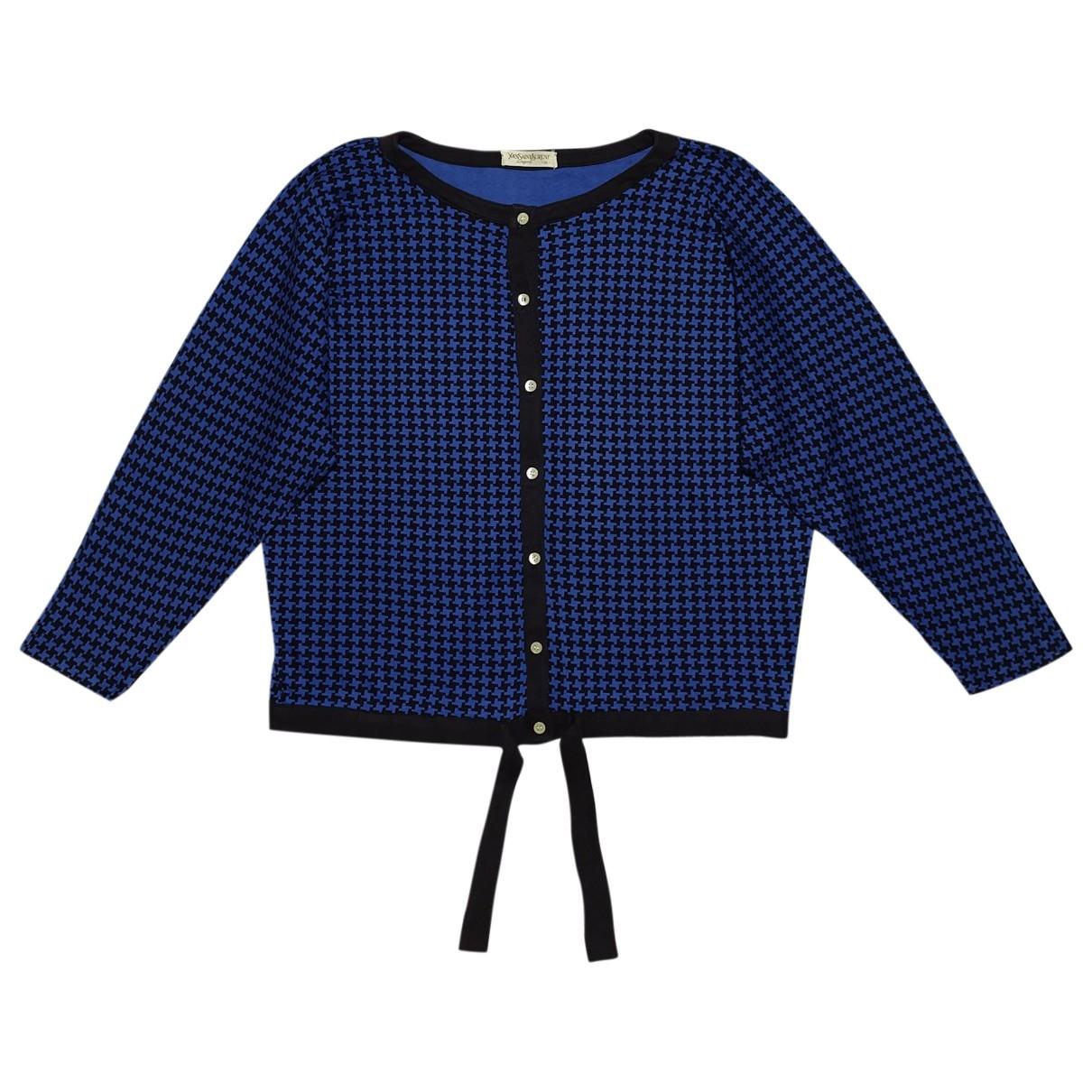 Yves Saint Laurent - Top   pour femme en coton - bleu