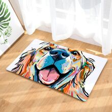 Bodenmatte mit Hund Muster