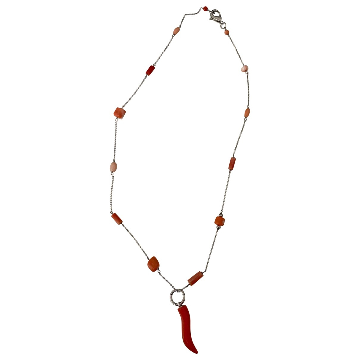 Non Signé / Unsigned \N Red Steel necklace for Women \N
