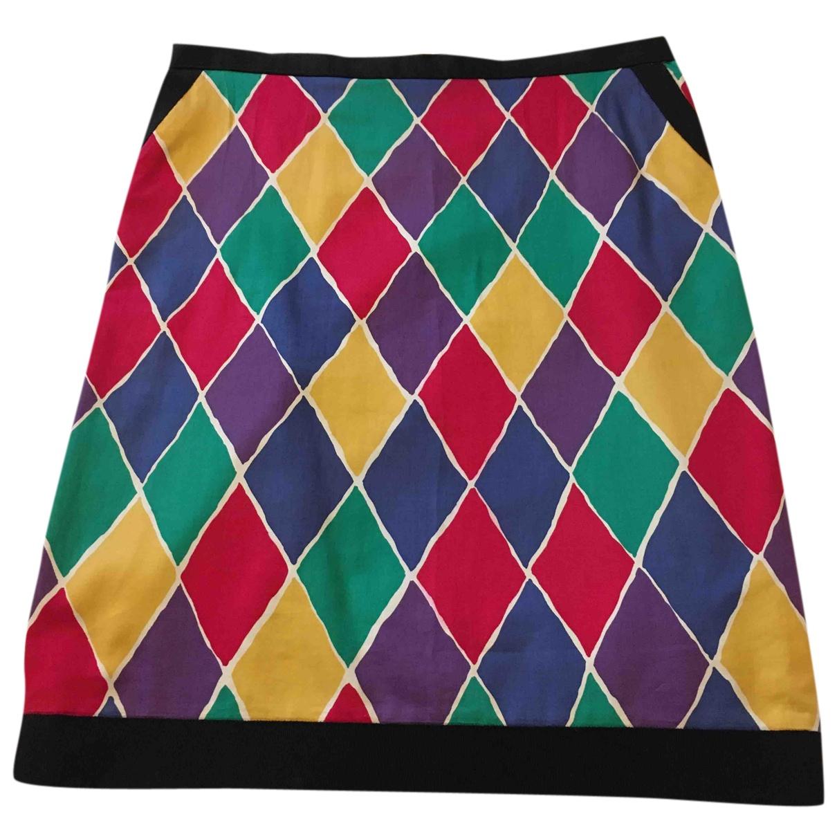 Yves Saint Laurent N Multicolour Cotton skirt for Women 38 FR