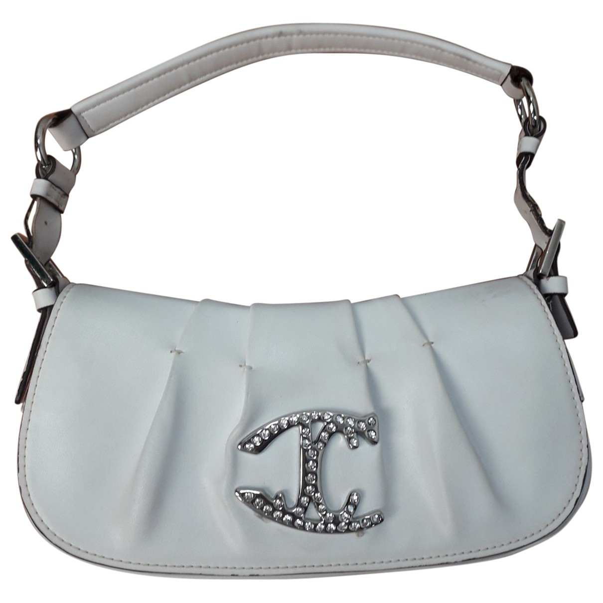 Just Cavalli \N White Leather Clutch bag for Women \N
