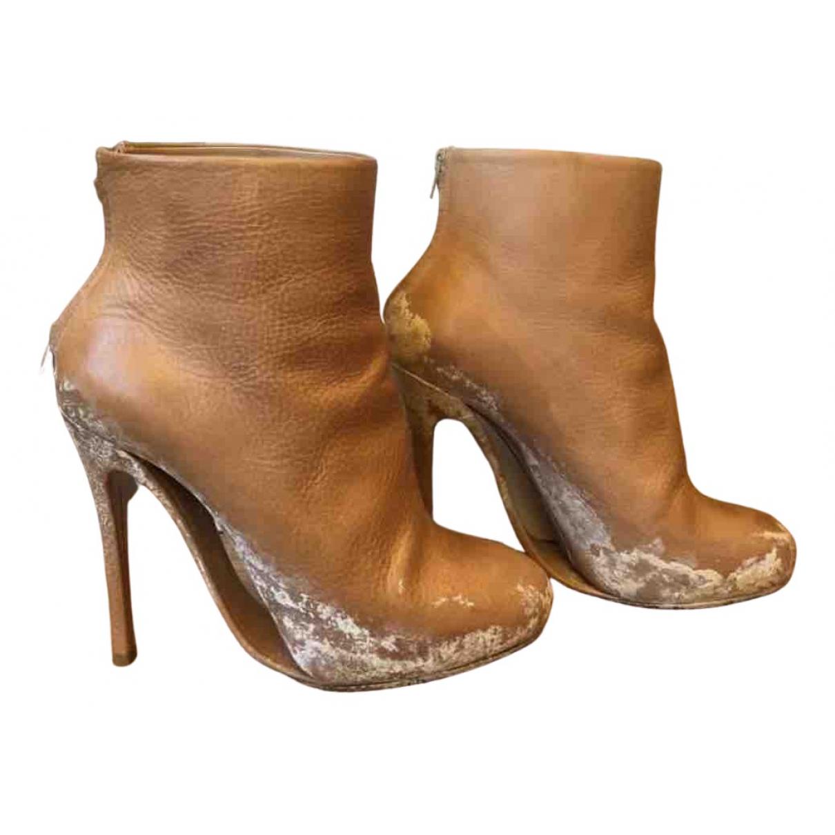 Maison Martin Margiela - Boots   pour femme en cuir - marron