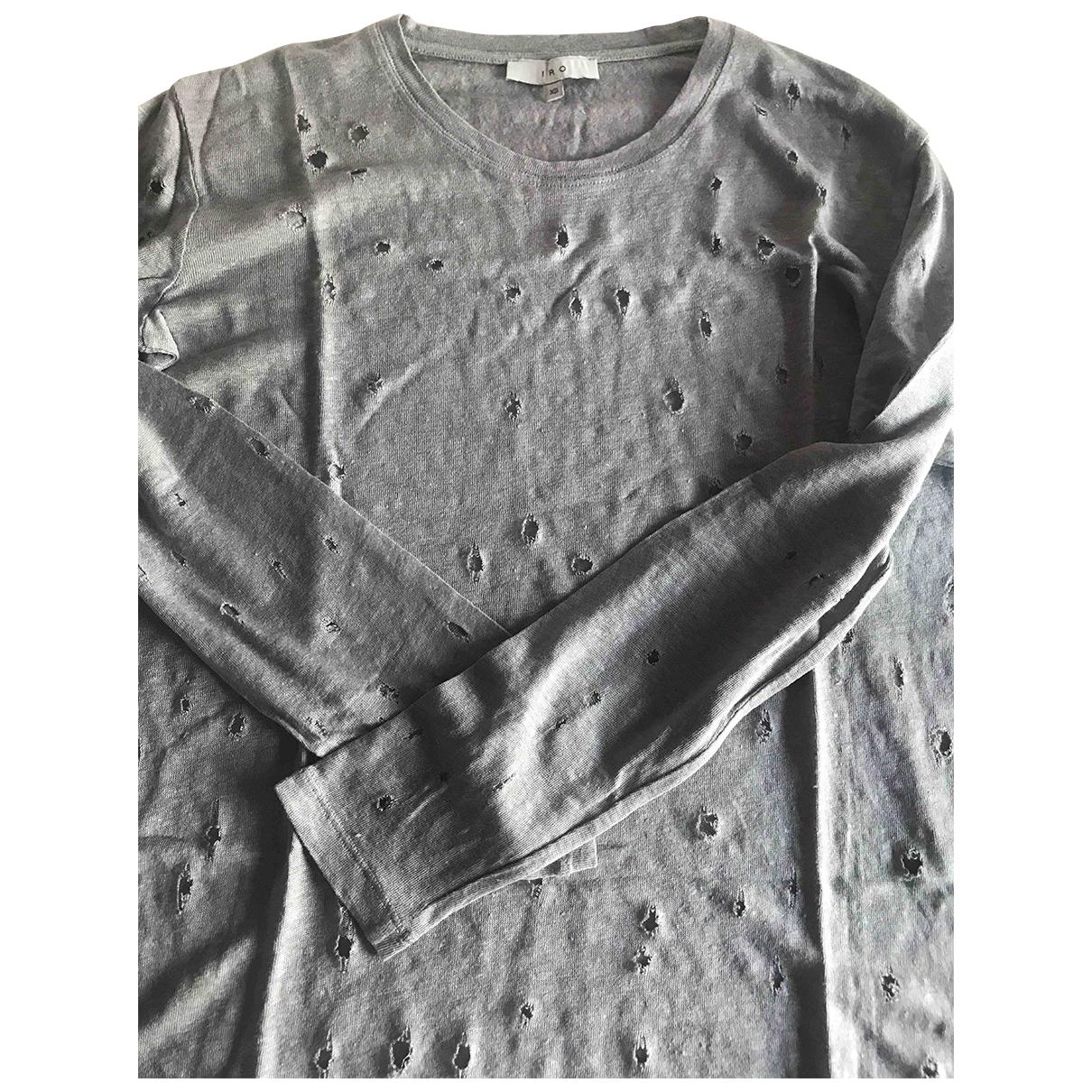 Iro - Top   pour femme en lin - gris
