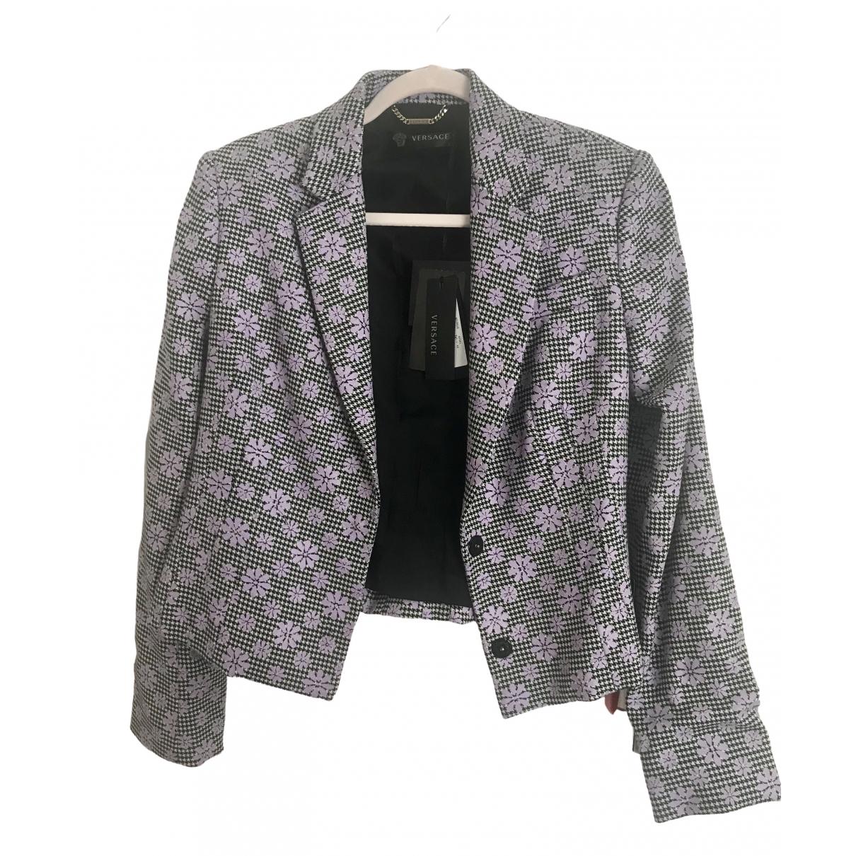 Versace - Veste   pour femme en laine - multicolore