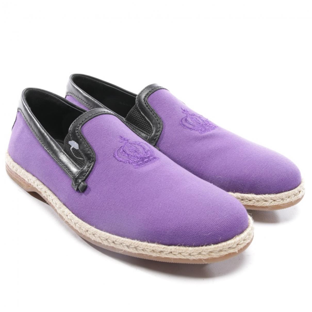 Dolce & Gabbana - Espadrilles   pour femme en toile - violet