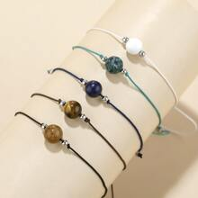 5pcs Natural Stone Decor String Bracelet