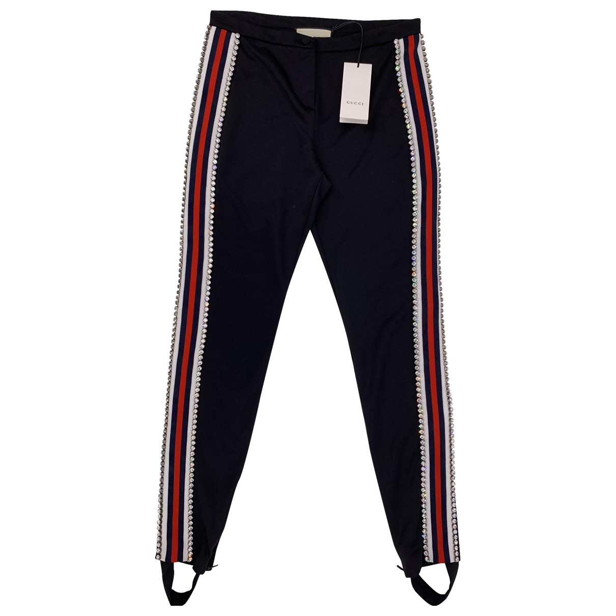 Gucci \N Black Trousers for Women L International