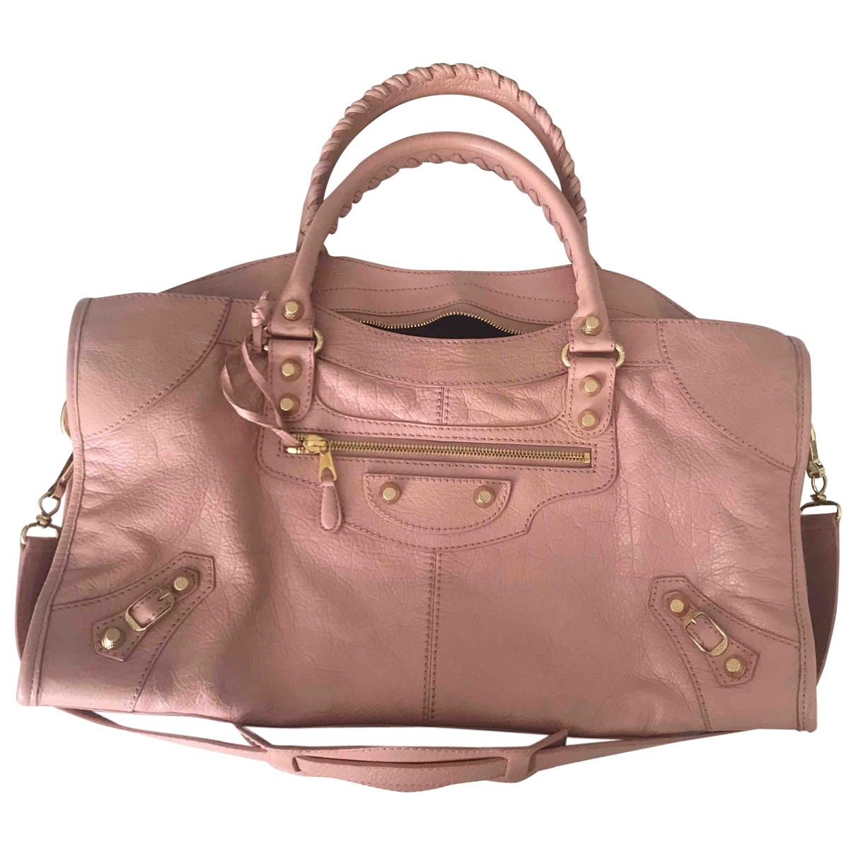 Balenciaga Part Time Pink Leather handbag for Women \N