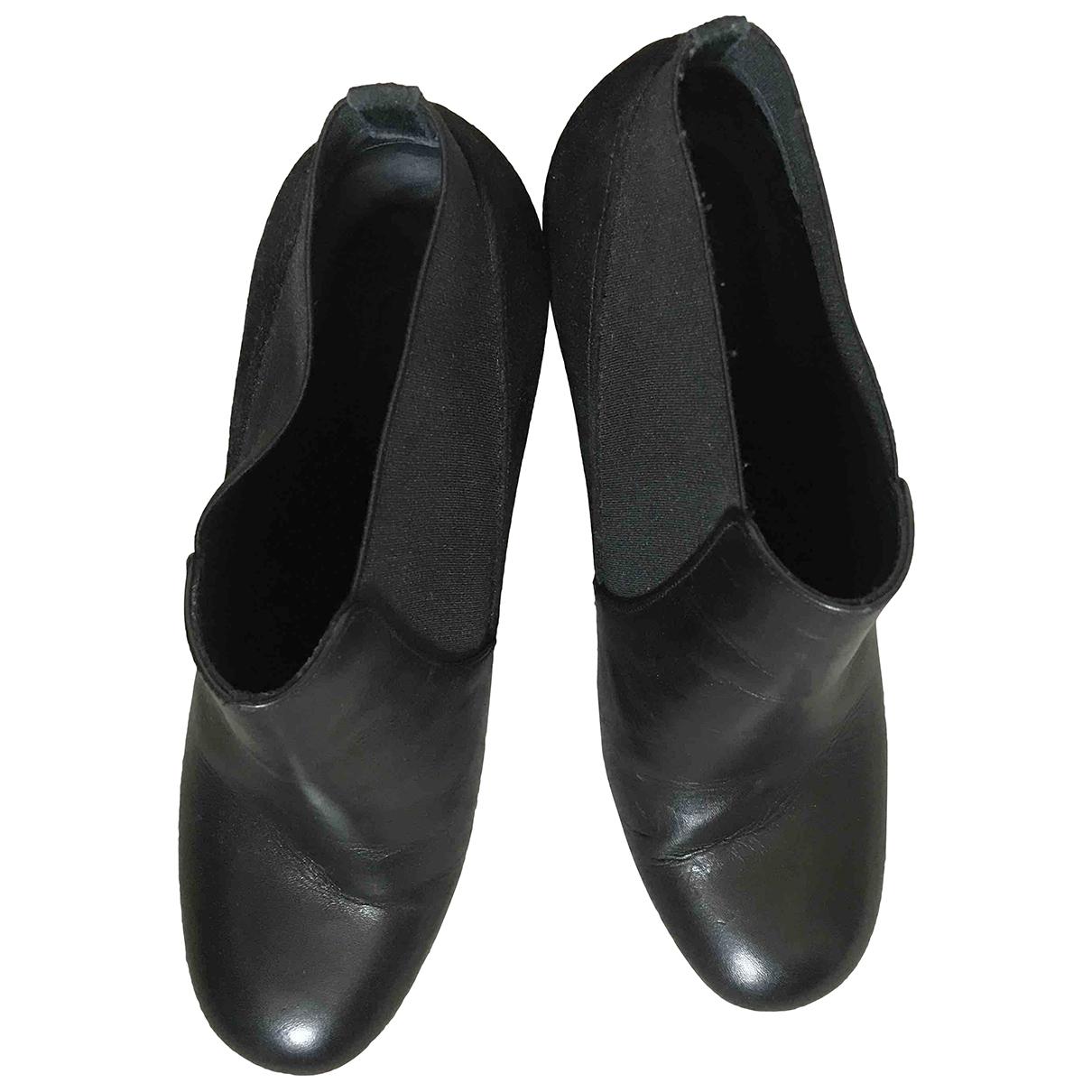 Cos \N Stiefeletten in  Schwarz Leder