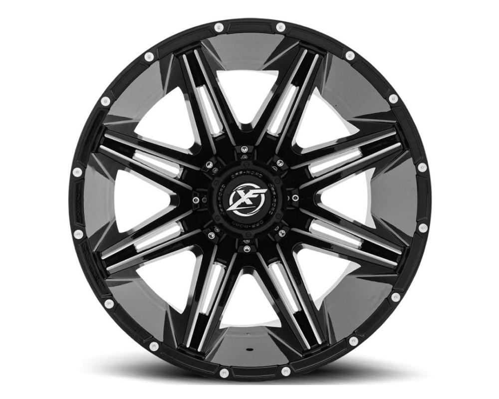 XF Off-Road XF-220 Wheel 17x9 5x127|5x139.7 12mm Gloss Black Milled
