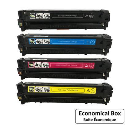 Compatible HP 128A cartouche de toner combo BK/C/M/Y - boite economique