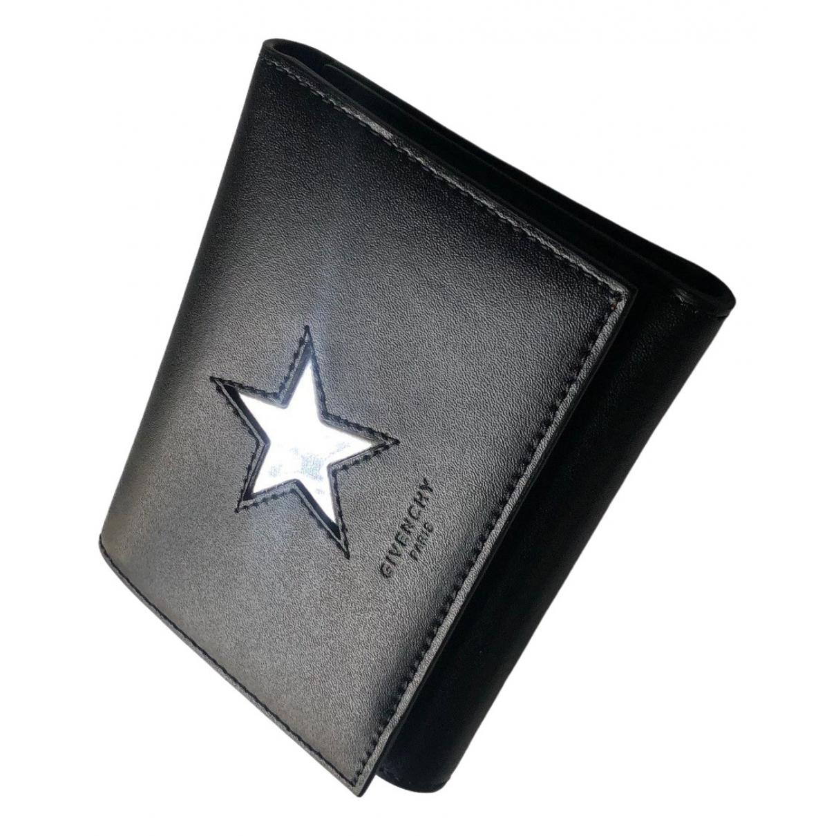 Givenchy \N Black Leather Small bag, wallet & cases for Men \N