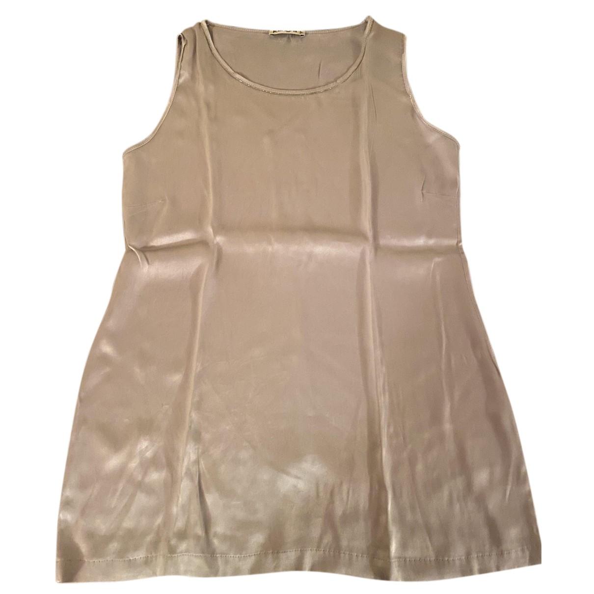 Autre Marque - Top   pour femme en soie - gris