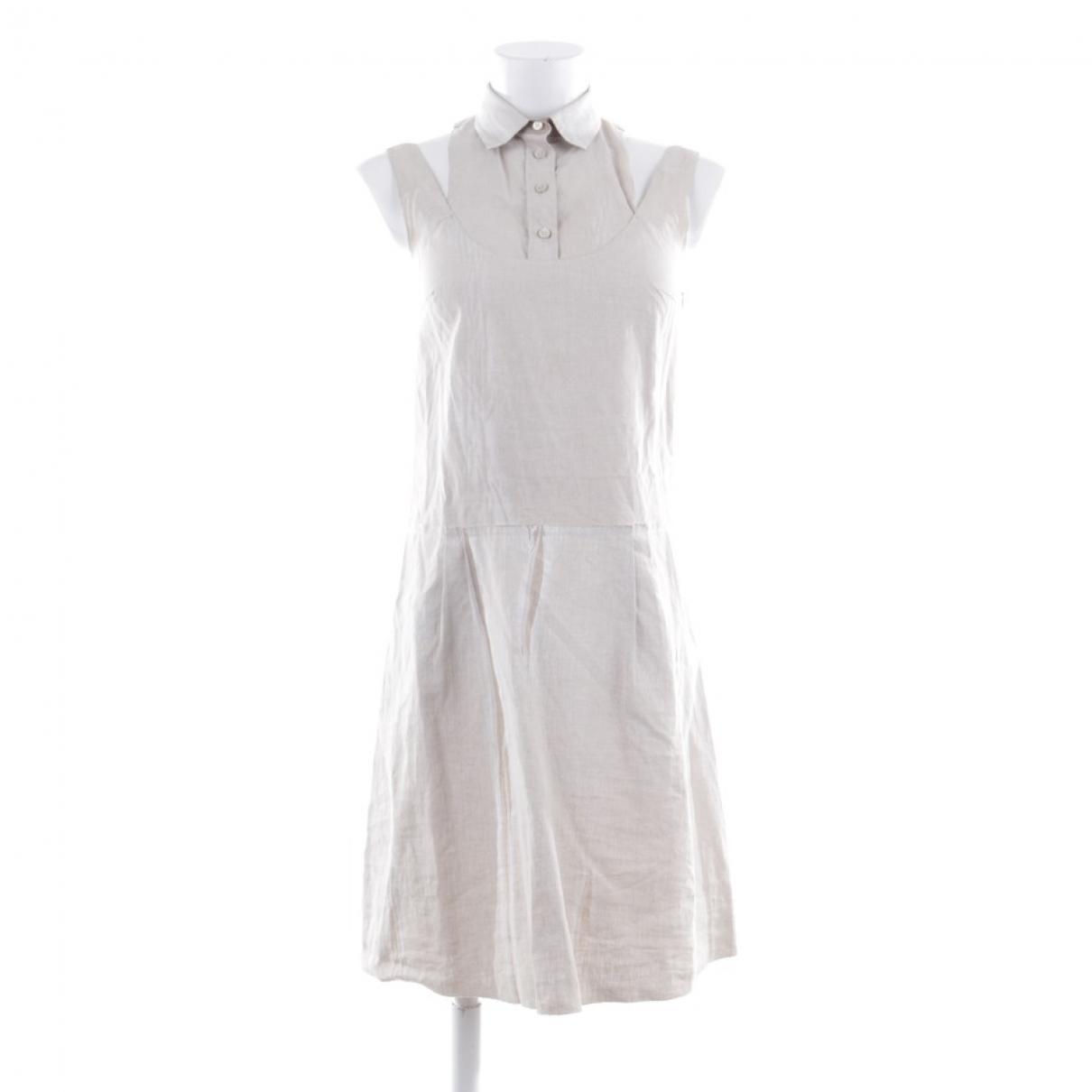Prada - Robe   pour femme en lin - beige