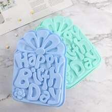 1 Stueck zufaellige Farbe Geburtstagskuchen Form