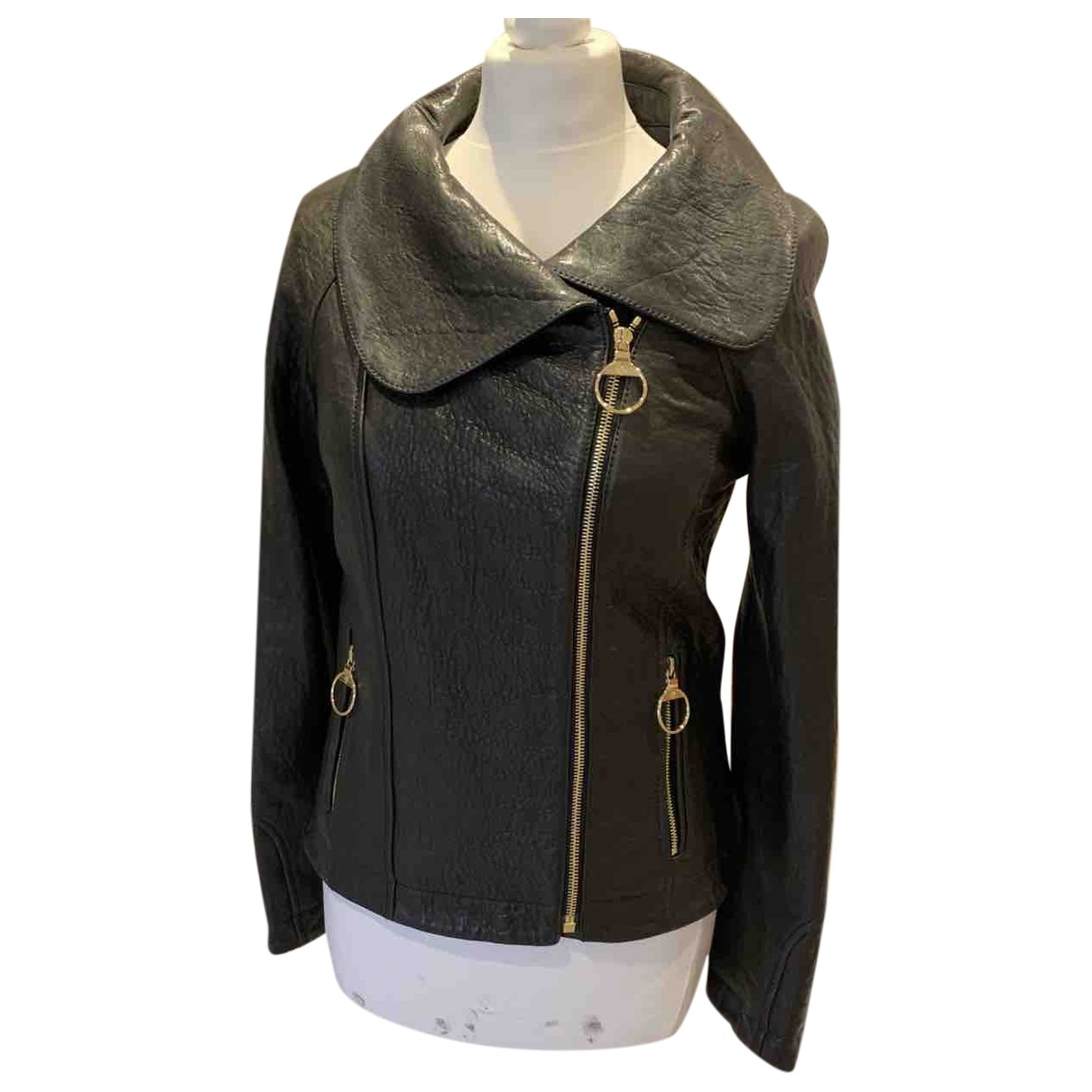 Mulberry \N Black Leather jacket for Women 8 UK