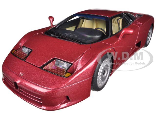 Bugatti EB110 GT Dark Red 1/18 Diecast Car Model by Autoart