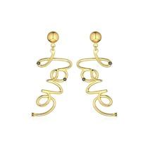 Buchstaben-Design Ohrringe