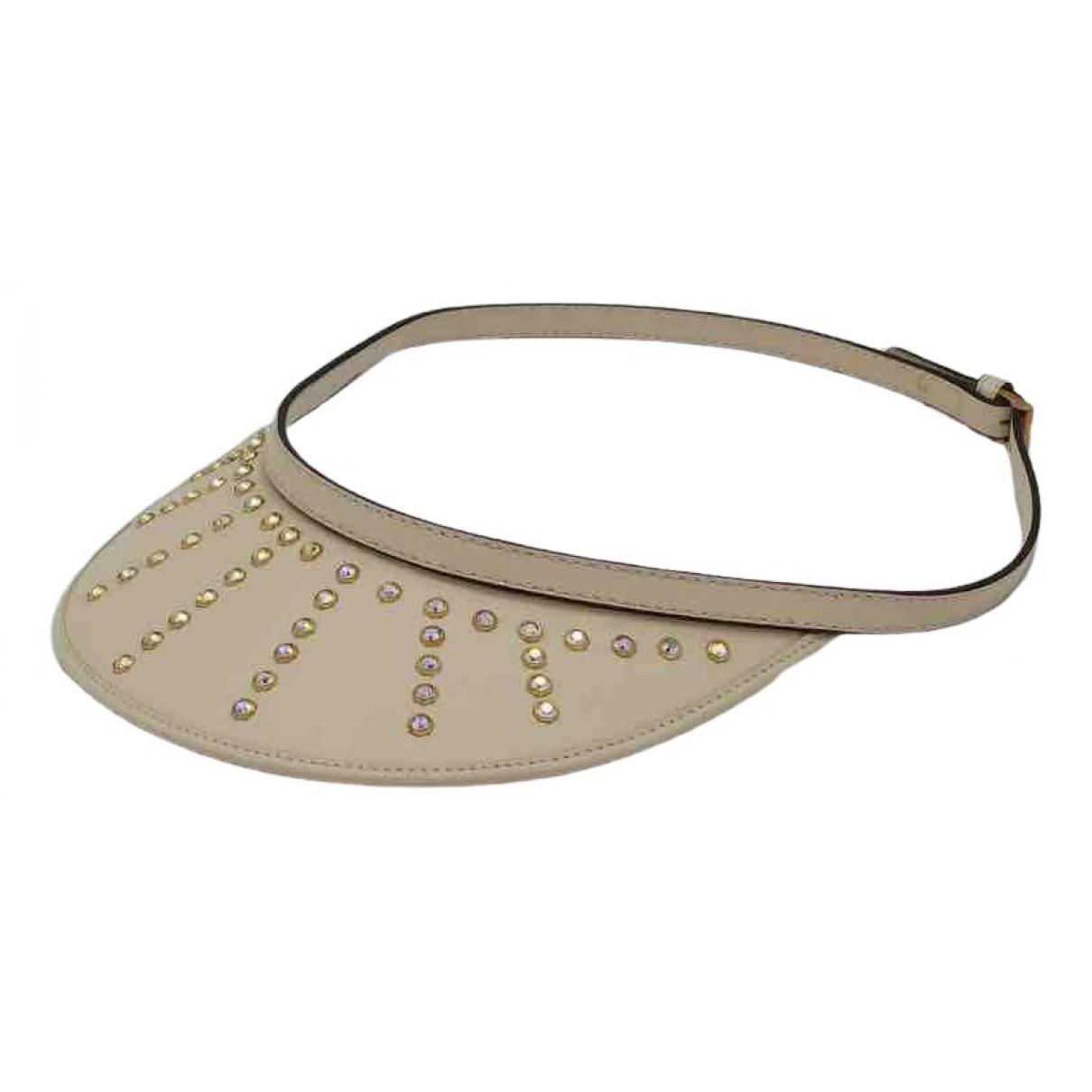 Gucci - Chapeau   pour femme en cuir - beige