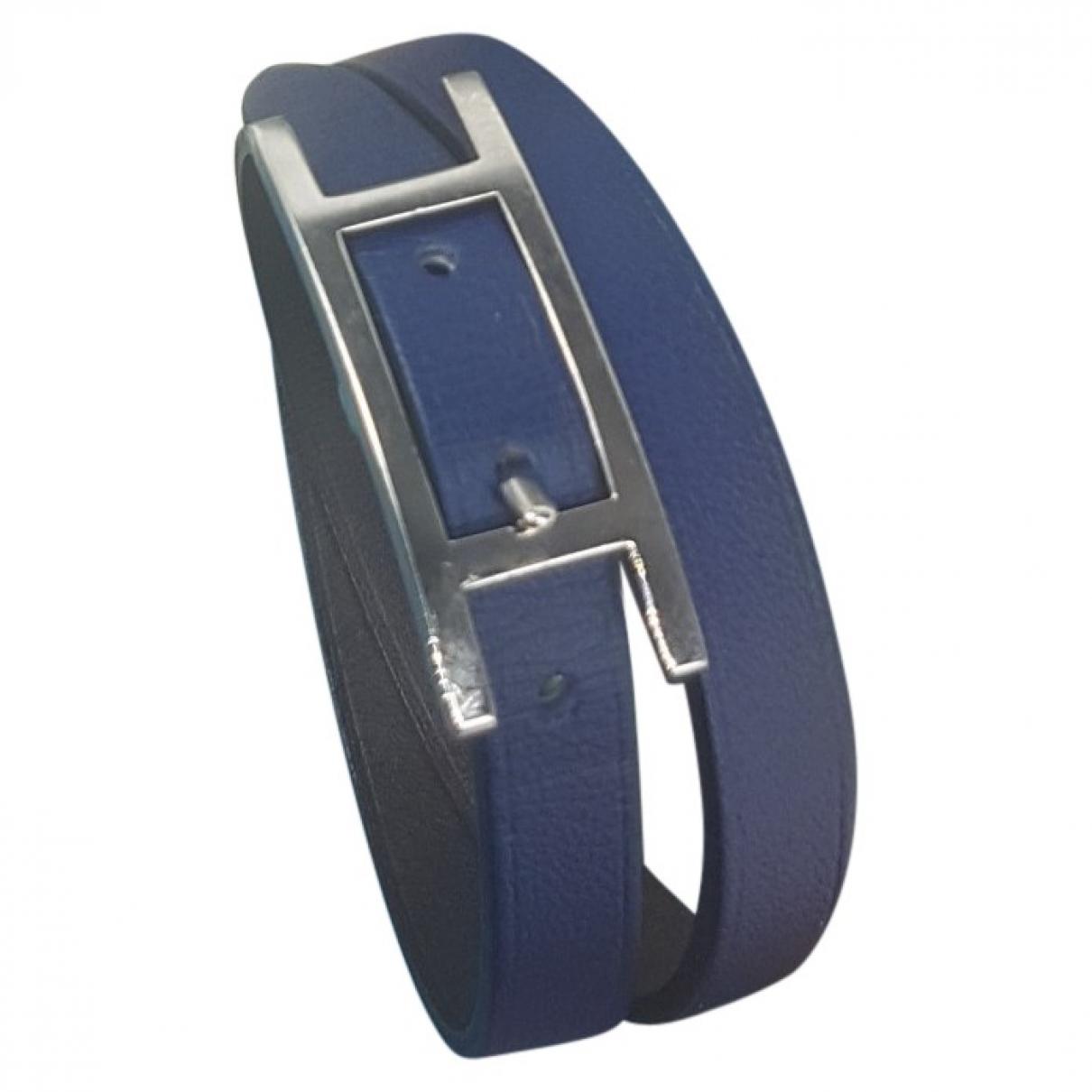 Hermes - Bracelet Hapi pour femme en cuir - marine