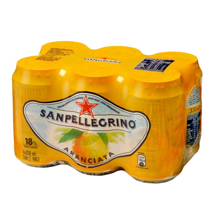 Sanpellegrino Carbonated Beverage 330ml 6/Pack - Aranciata