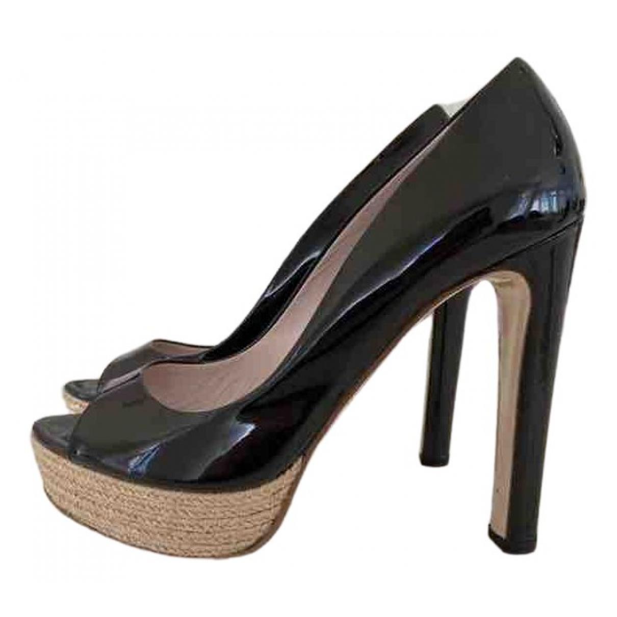 Miu Miu \N Black Patent leather Heels for Women 40.5 EU