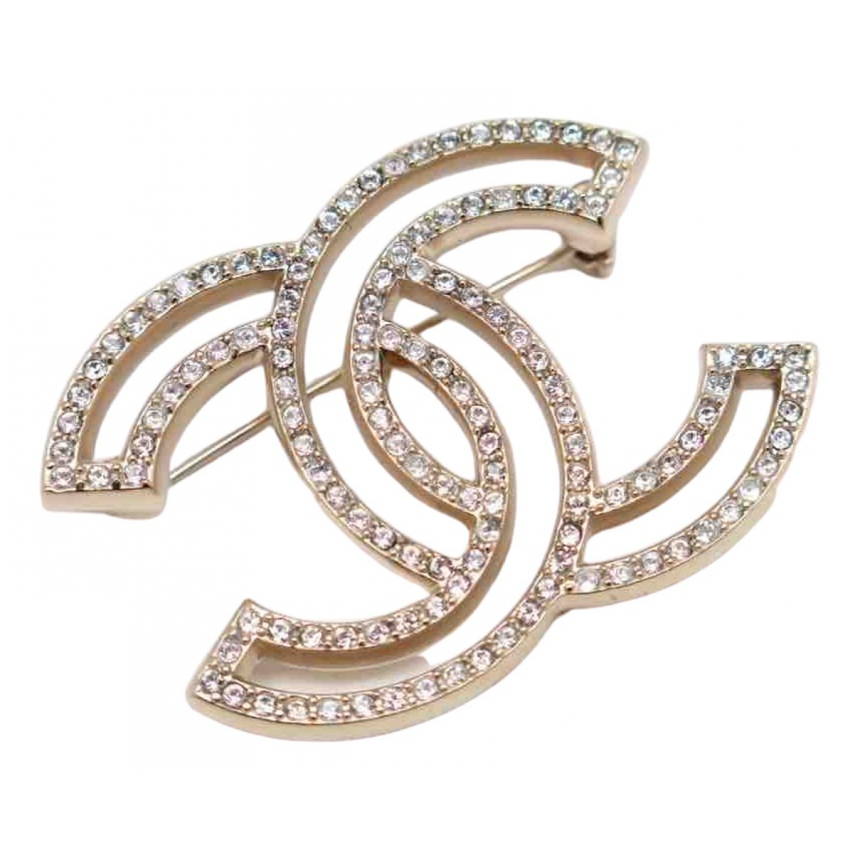 Chanel CC Gold Silver Pins & brooches for Women \N