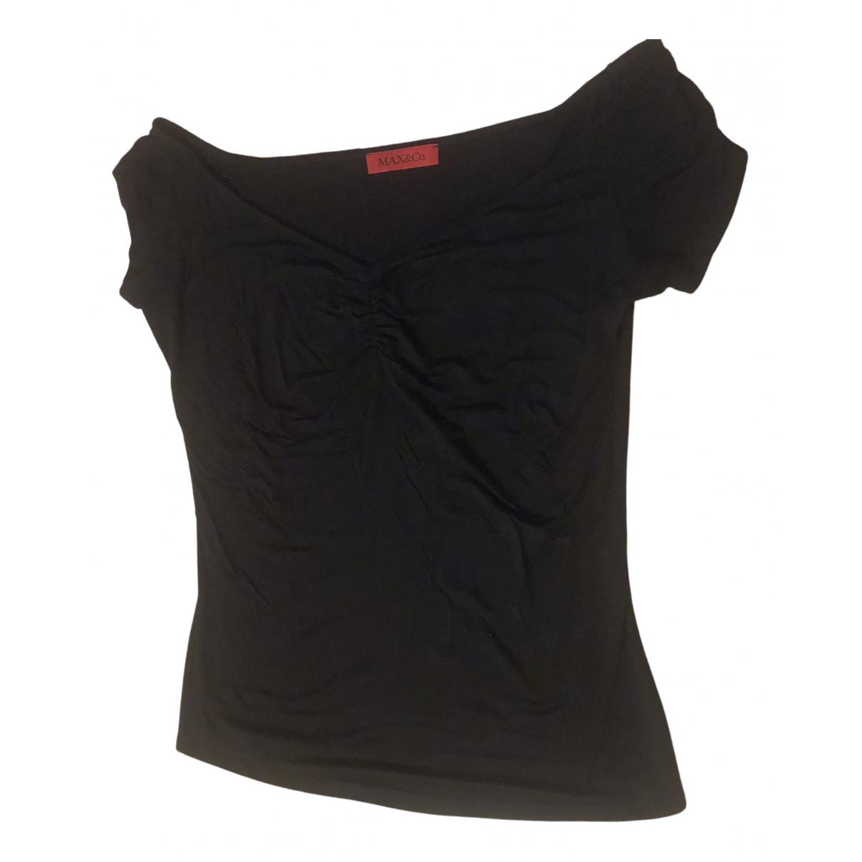 Max & Co - Top   pour femme en coton - noir