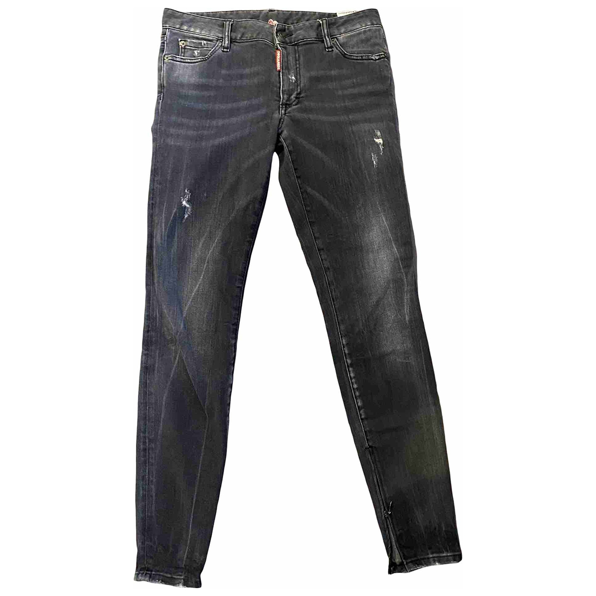 Dsquared2 \N Anthracite Cotton - elasthane Jeans for Women 38 FR
