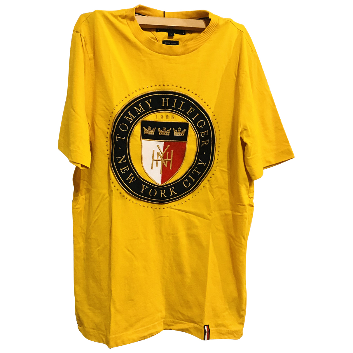 Tommy Hilfiger N Yellow Cotton T-shirts for Men S International