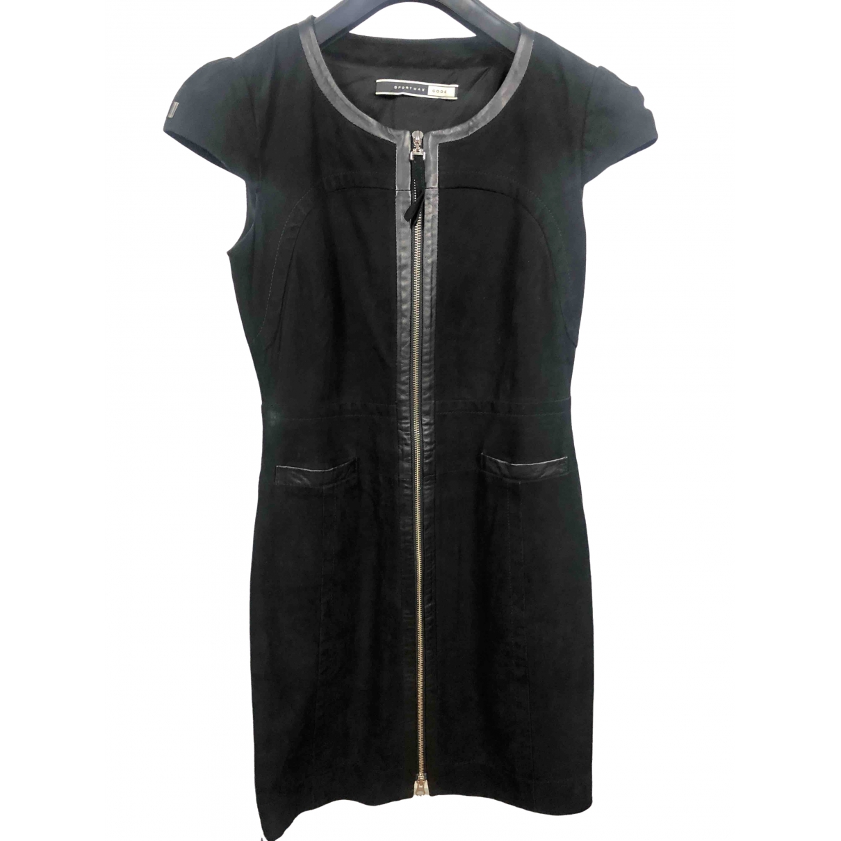 Sport Max \N Black Leather dress for Women 40 IT