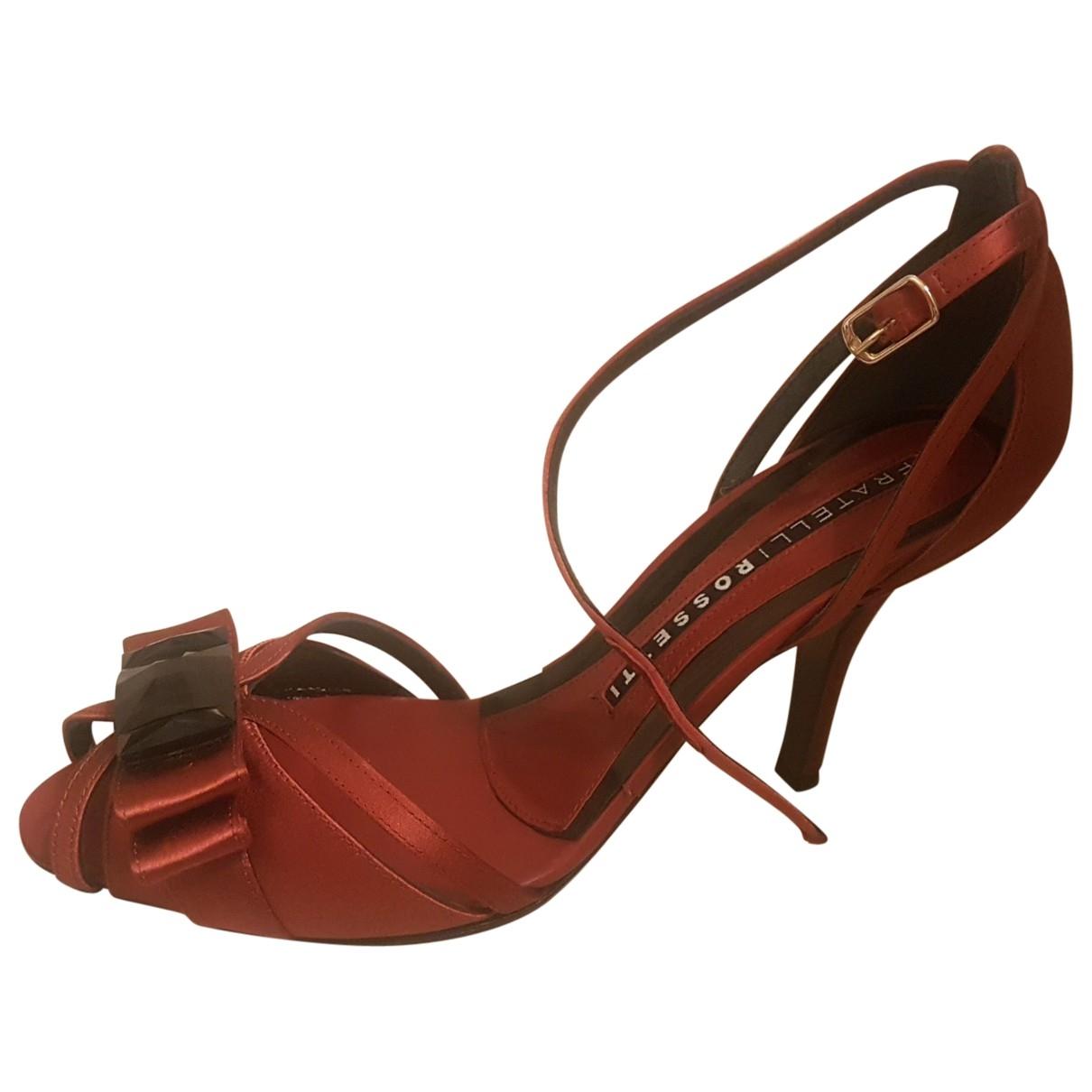 Sandalias de Terciopelo Fratelli Rossetti